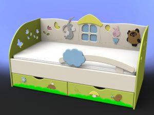 Детский диван - кровать с ящиками для хранения
