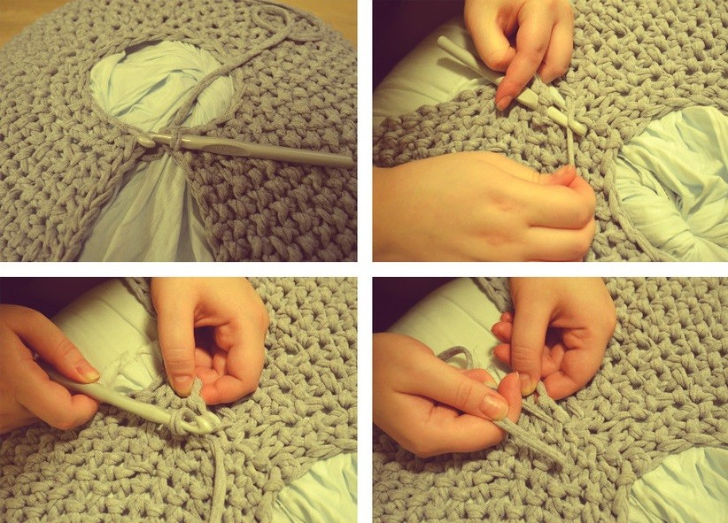 Схемы вязания из пряжи пуф