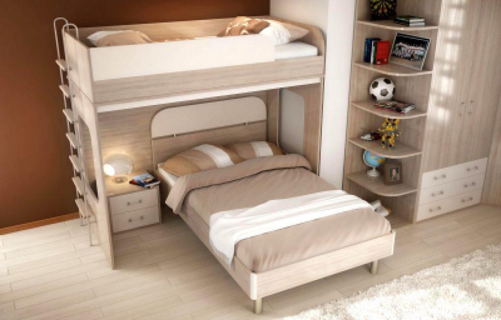 Выпадающая двухъярусная кровать для детей и взрослых