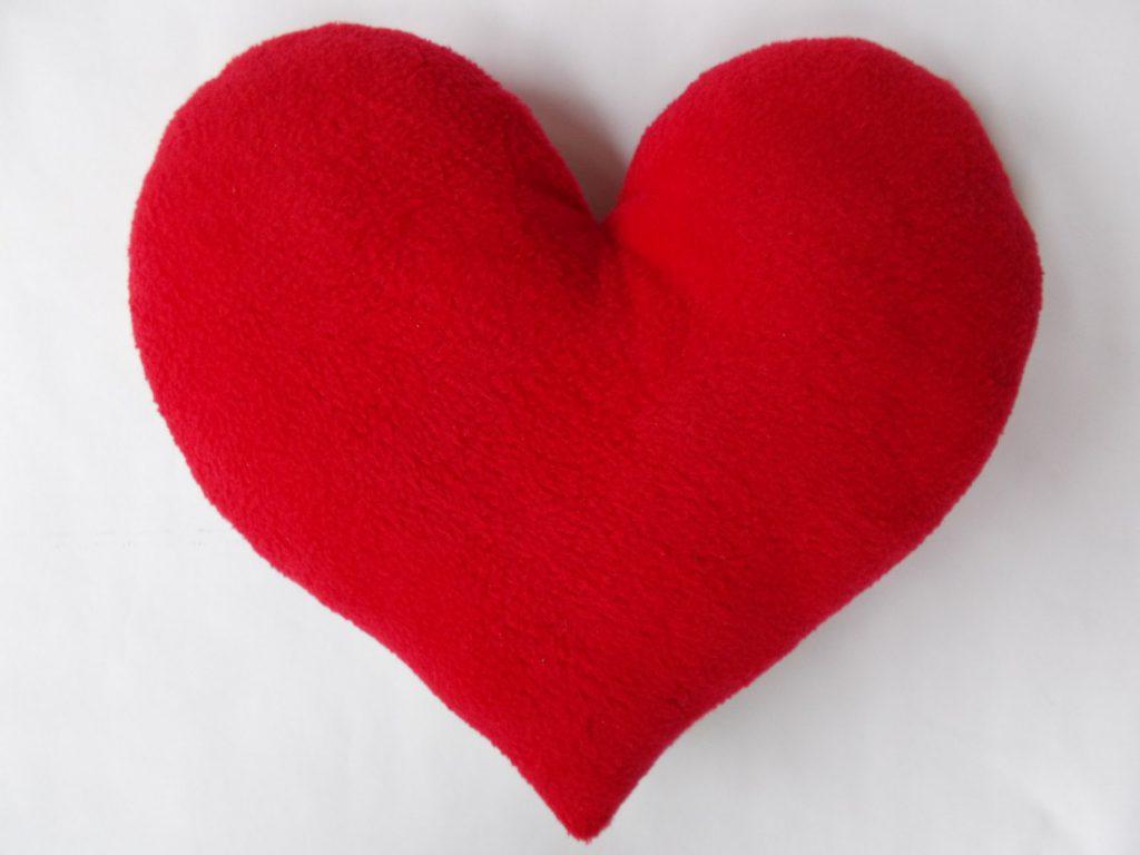 Своими руками подушка в форме сердца