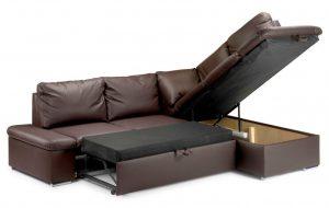 Угловой диван как спальное место