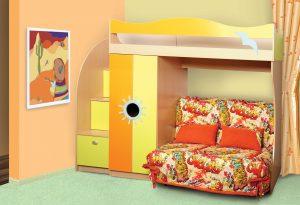 Кровать с раскладывающимся диваном