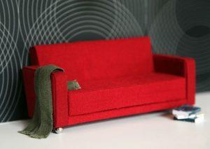 Как сделать диван для кукол раскладной
