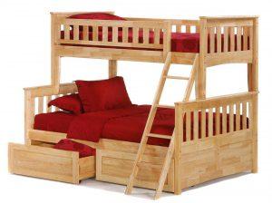 Двухэтажная кровать для семьи из 3 человек
