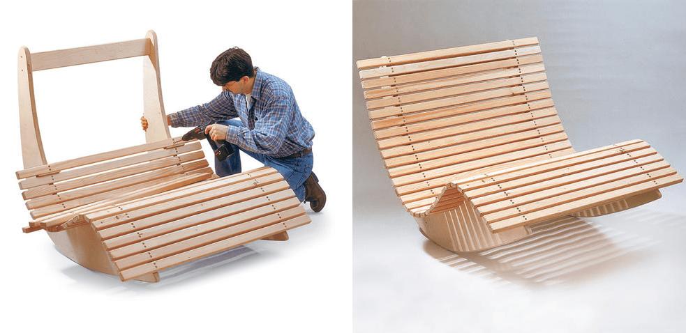 Кресло качалка из старого кресла своими руками фото