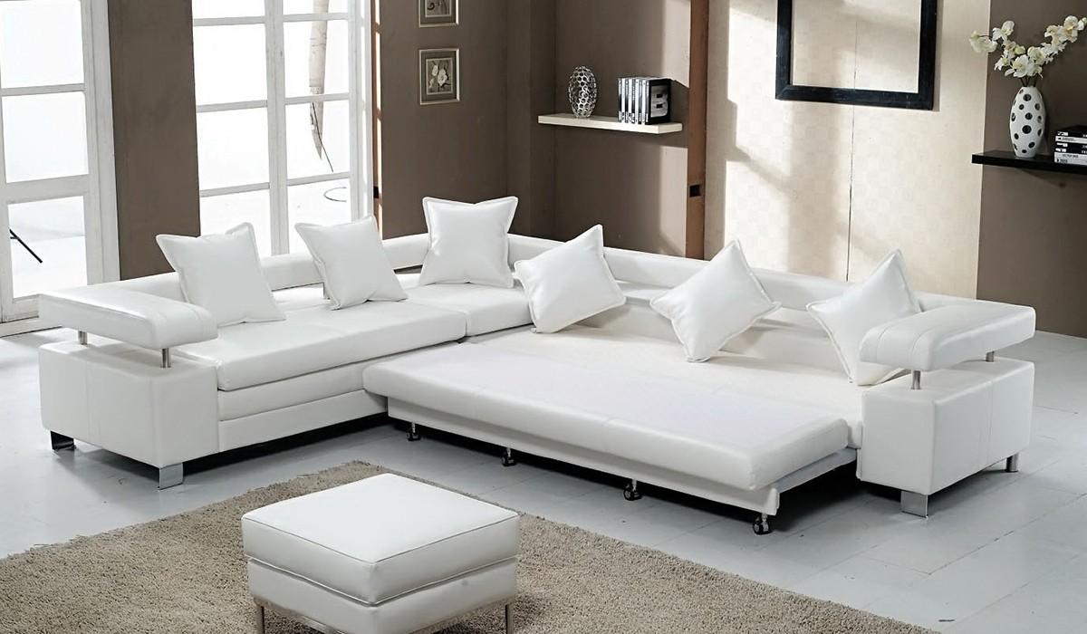 Большое спальное место угловой диван