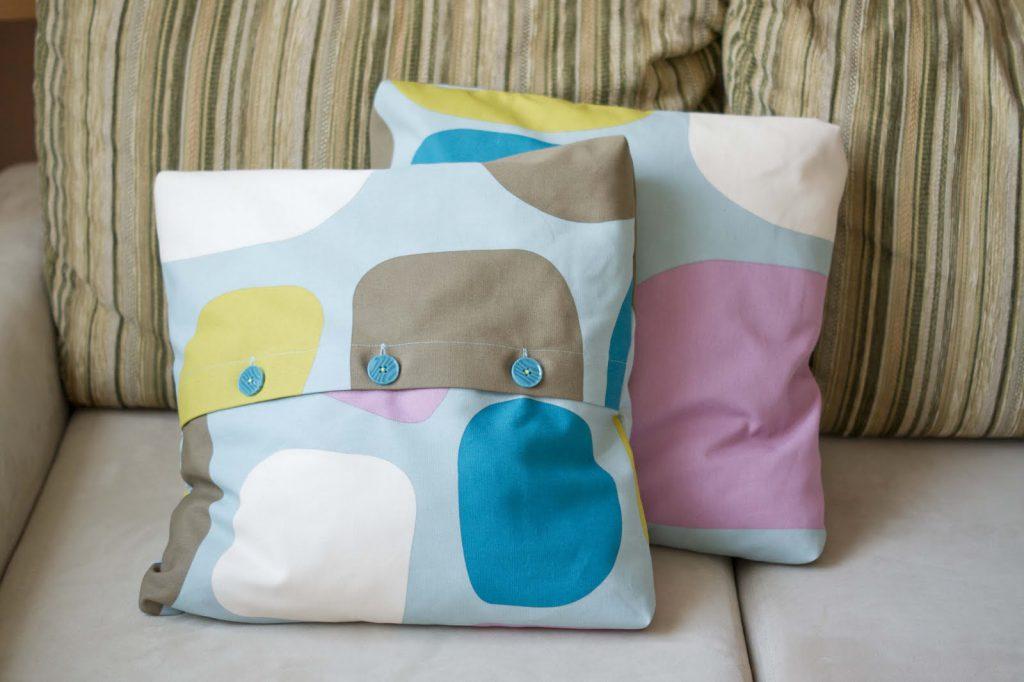 Чехлы на подушки для дивана своими руками