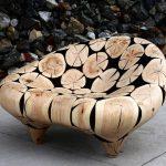 Мебель из из бревен и древесных спилов — это реально!