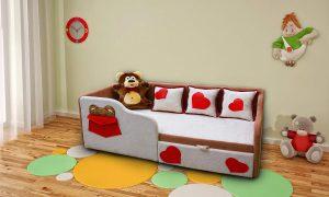 Диван - кровать с бортиками