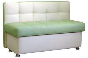 Узкий прямой диван украсит кухню
