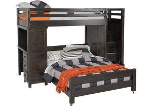Двухъярусная кровать темного цвета