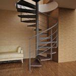 Обустройство винтовой лестницы – выгодный и экономный вариант
