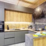 Кухни со шкафами до потолка